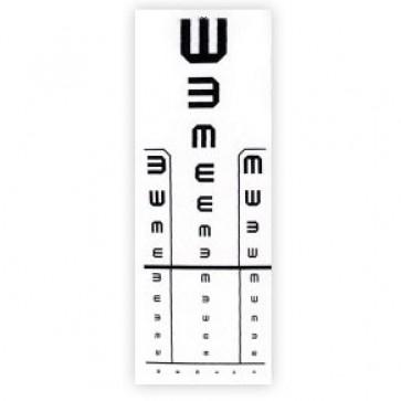 """Tablica za ispitivanje vida, 5m, E"""" kukice"""""""