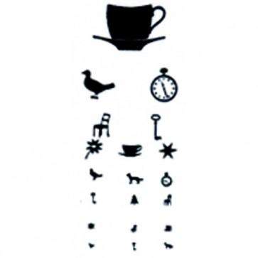 Tablica za ispitivanje vida, 5m, sličice