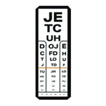 Tablica za ispitivanje vida, Kettesy 5m slova