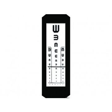 Tablica za ispitivanje vida Kettesy, 3m, E kukice