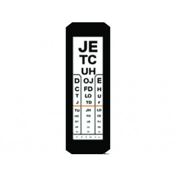 Tablica za ispitivanje vida, Kettesy, 3m, slova