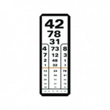 Papirnate tablice za ispitivanje vida, za 5 metara udaljenosti