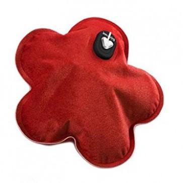 Električni termofor u obliku cvjetića u crvenoj boji