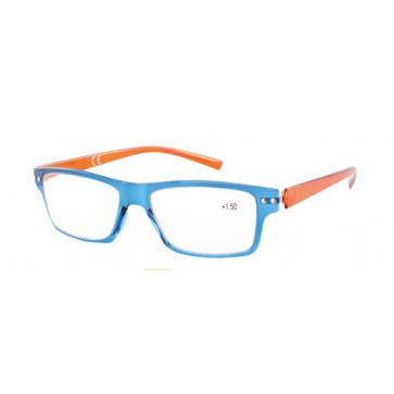 Naočale za čitanje Flex u dioptrijama +1, +1.50, +2, +2.50, +3 i +3.50, plava fronta, crvene drške