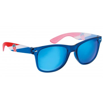 Sunčane naočale s hrvatskom zastavom - plave