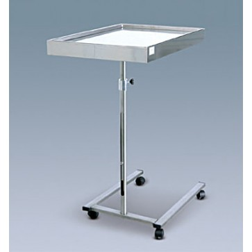 Mayo stol, čelična konstrukcija i odvojiva tacna, na kotačima, visina podesiva od 90 do 115cm, tacna 70x45x1,7cm