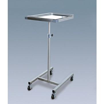 Mayo stol, čelična konstrukcija i odvojiva tacna, na kotačima, visina podesiva od 90 do 115cm, tacna 62x44x1,7cm