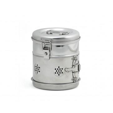 Bubanj za sterilizaciju, inox, 150 × 150 mm
