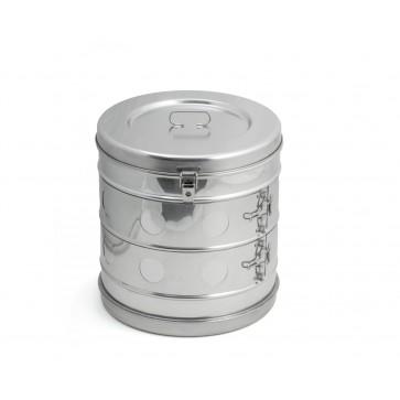 Bubanj za sterilizaciju, inox, 290 × 290 mm