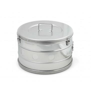 Bubanj za sterilizaciju, inox, 390 × 240 mm