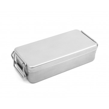 Kutija za sterilizaciju, glatka, inox, s ručkama, 200 × 100 × 50 mm