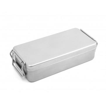 Kutija za sterilizaciju, glatka, inox, s ručkama, 220 x 120 x 60 mm
