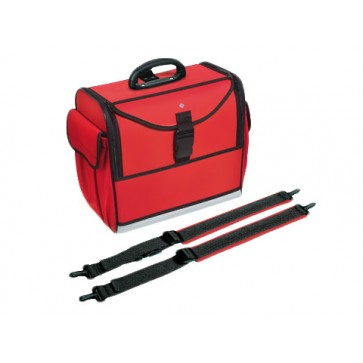 Bollmann torba / ruksak za liječnika Alternative, s naramenicama,  spužvasti poliester, crvena