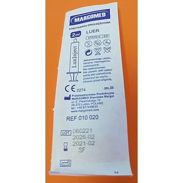 Plastična štrcaljka (šprica) 2ml, DD (100 komada) | bez igle | sterilna | centralni luer | 2 ml
