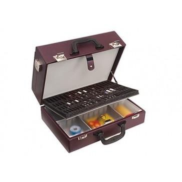 "Bollmann kofer za liječnika ""Medica 2000"" s prednjim džepom, bordo, koža (Rok isporuke 20 dana)"