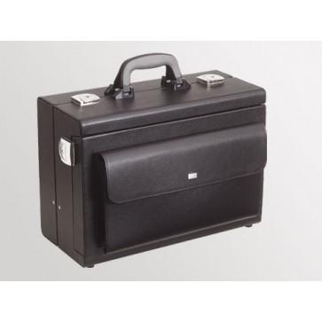 "Bollmann kofer za liječnika ""Medica 2000"" s prednjim džepom, crna, koža (Rok isporuke 20 dana)"