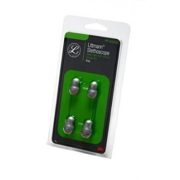 Komplet rezervnih sivih, mekih oliva za Littmann stetoskope, 1 par malih, 1 par velikih