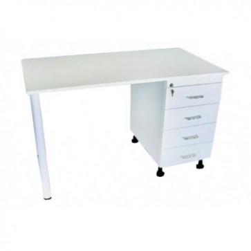 Uredski stol za medicinske sestre, bijele boje