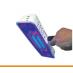 Ručna svjetiljka s izvorom ultraljubičastog svjetla
