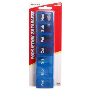 Tjedna kutija za tablete na hrvatskom jeziku
