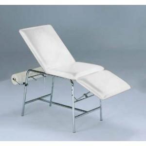 Pregledni ležaj, trodjelni, kromirana čelična kostrukcija, ležaj bijele boje, 180x60cm, visina 78cm