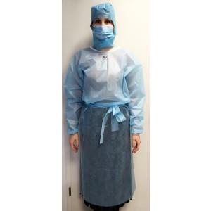 Ogrtač kirurški na vezanje | 35g | plavi | pakiranje 10 kom | hrvatski proizvod