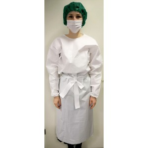 Ogrtač kirurški na vezanje | 40g | bijeli | pakiranje 10 kom | hrvatski proizvod