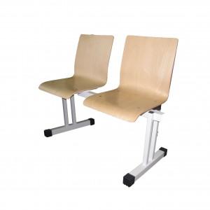Stolci za čekaonicu s drvenim sjedalom dvosjed (rok isporuke 10 dana)