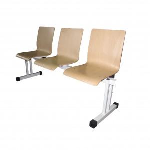 Stolci za čekaonicu s drvenim sjedalom trosjed (rok isporuke 10 dana)