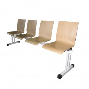 Stolci za čekaonicu s drvenim sjedalom četverosjed (rok isporuke 10 dana)