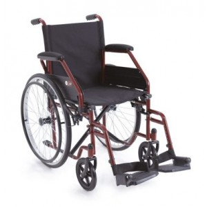 Sklopiva invalidska kolica START | crvene boje | širina sjedišta 45 cm