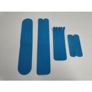Kineziološke trake | unaprijed profesionalno izrezane | Set traka - I, Y, X i Šapa | plave boje