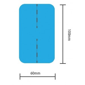 Kineziološke trake | unaprijed profesionalno izrezane | oblik X - 4 komada | plave