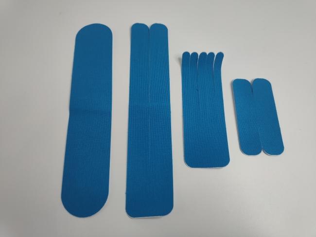 Profesionalnao pripremljene i unaprijed izrezane kineziološke trake - set traka u obliku slova I, Y i X i oblku Šape - ponuda kvantum tim