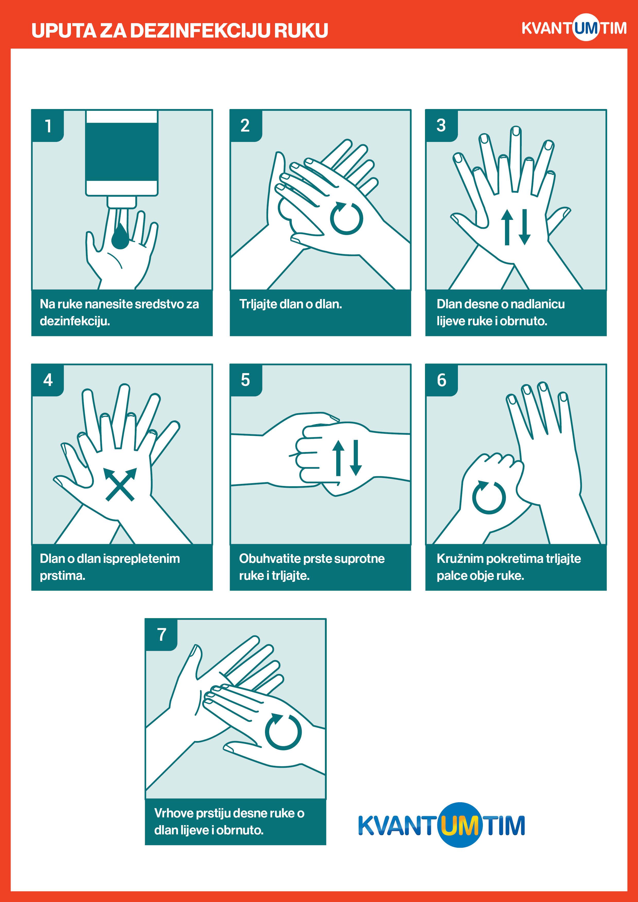 Upute za pravilno pranje i dezinfekciju ruku - dezinfekcija