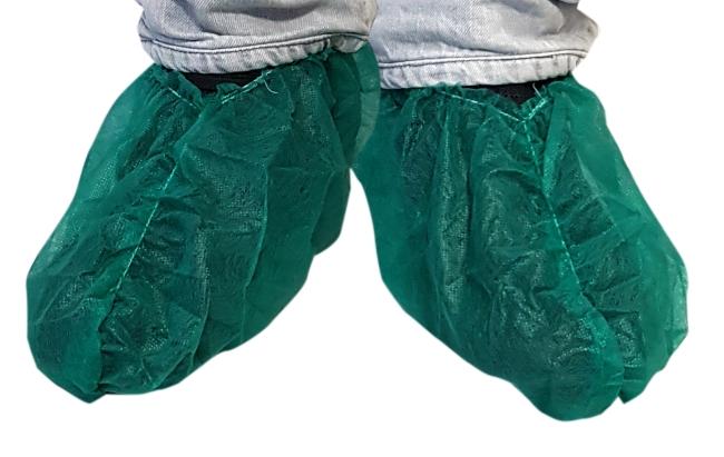 11020Z Jednokratna navlaka za cipele u zelenoj boji | 20g/m2 | pakiranje 50 kom