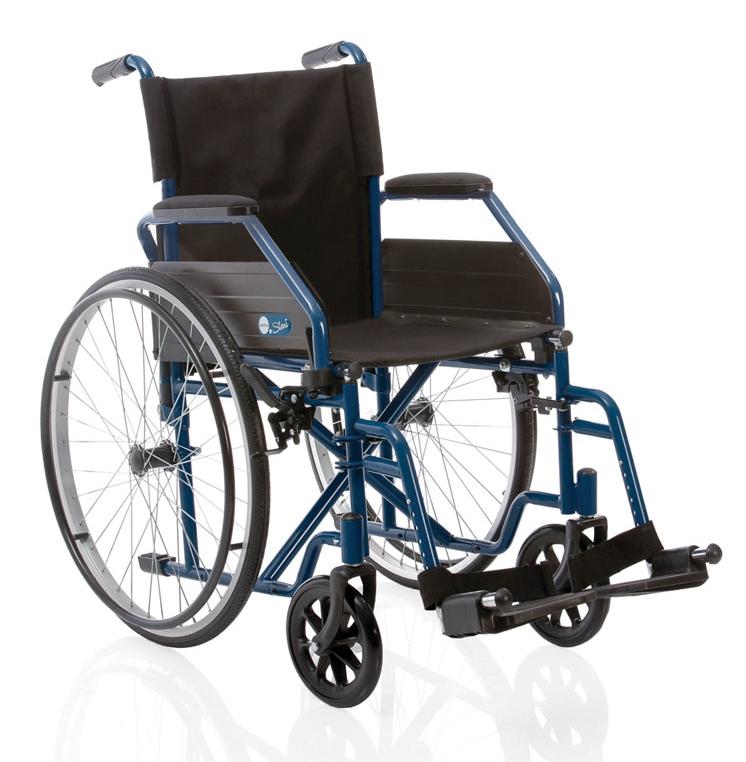 sklopiva invalidska kolica Moretti, plava boja CP100B Kvantum-tim