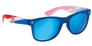 Sunčane naočale s hrvatskom zastavom plave